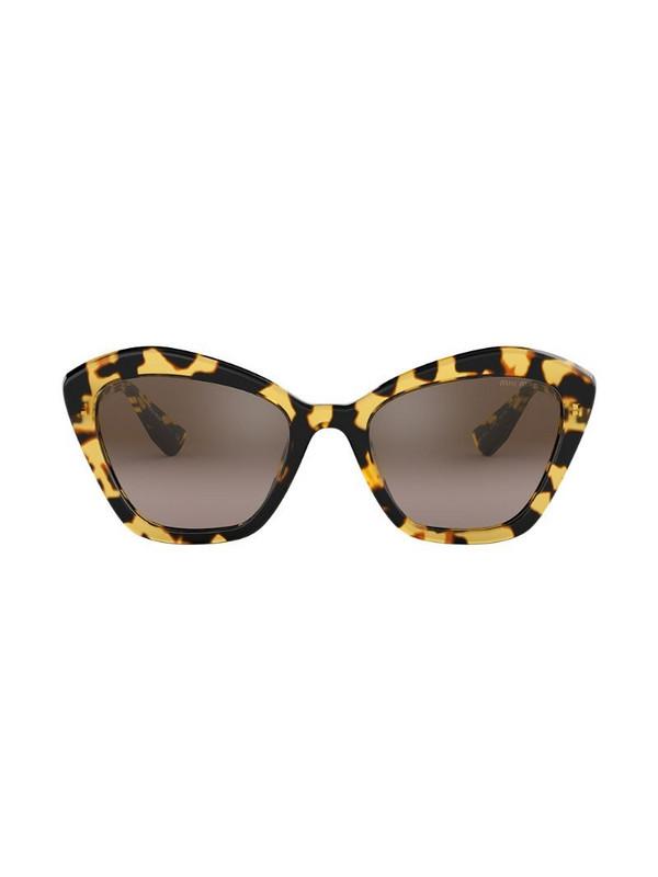 Miu Miu Eyewear cat eye sunglasses in brown