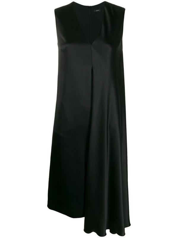 Joseph Carrol double face shift dress in black