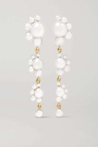 Sophie Bille Brahe - Notte Grande 14-karat Gold Pearl Earrings