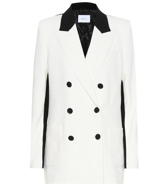 Racil Woody wool-crêpe blazer in white