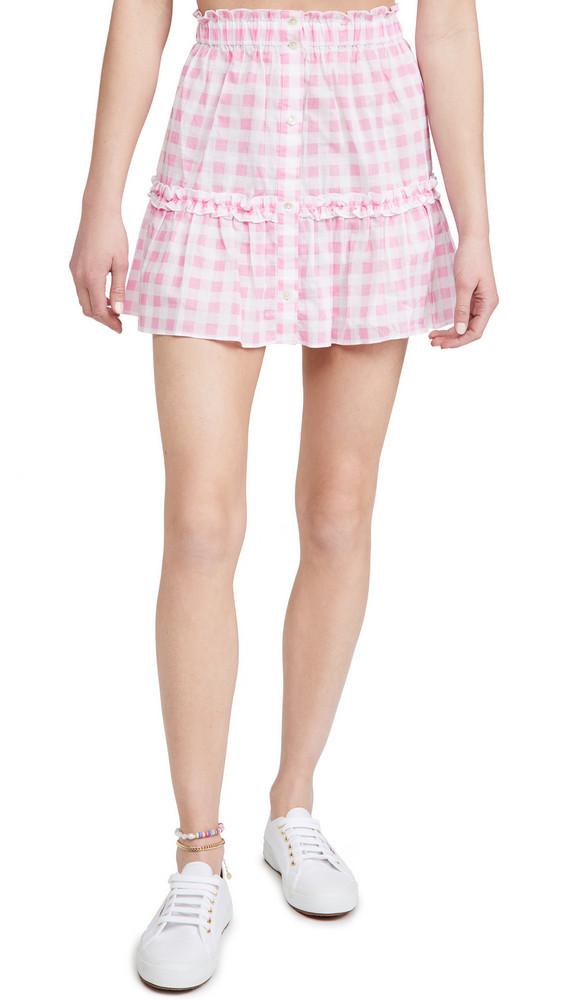 Playa Lucila Gingham Skirt in pink