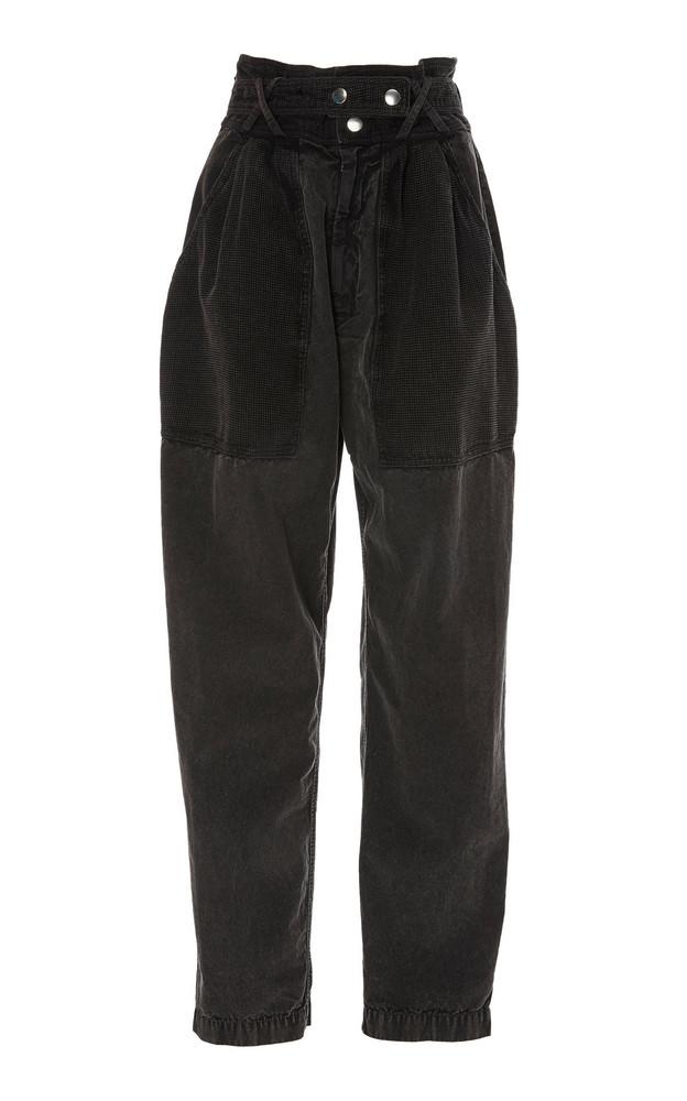 Isabel Marant Turner High-Rise Tapered-Leg Jeans in black