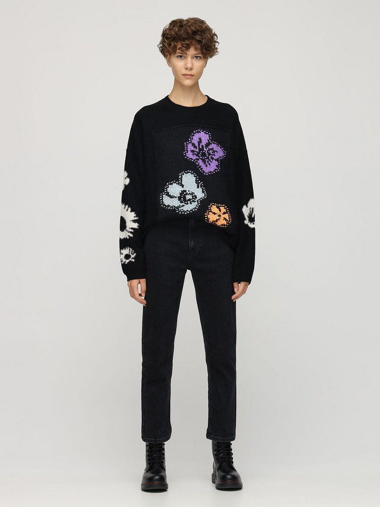 MCQ Genesis Ii Patched Wool Blend Sweater in black