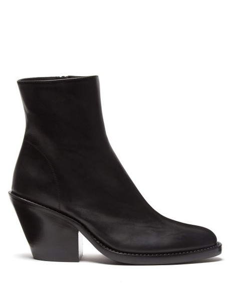 heel leather ankle boots ankle boots leather black shoes
