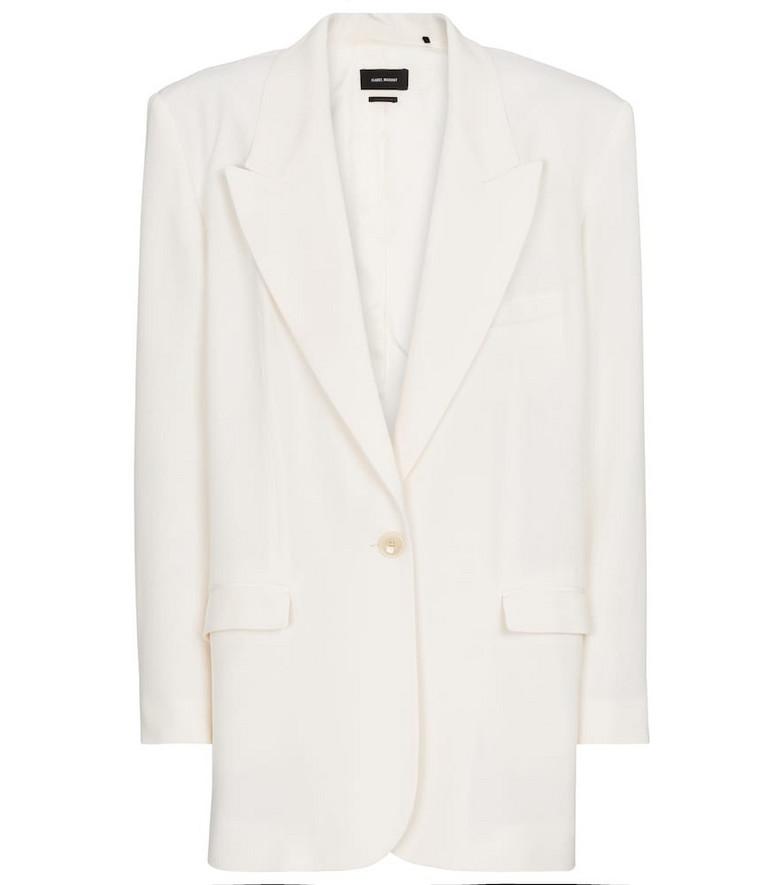 Isabel Marant Piko crêpe blazer in white