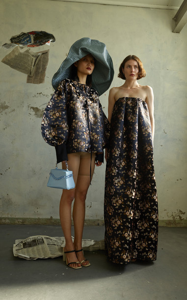 Paris Georgia Tulip Oriental Jacquard Dress Size: XS in print