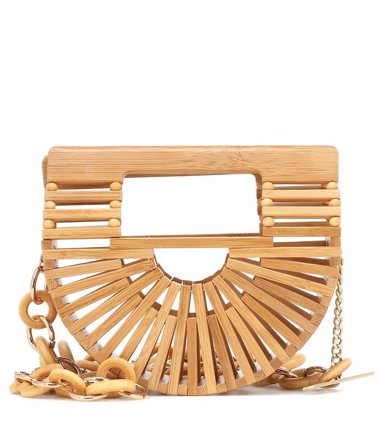Cult Gaia Ark Nano bamboo belt bag in brown