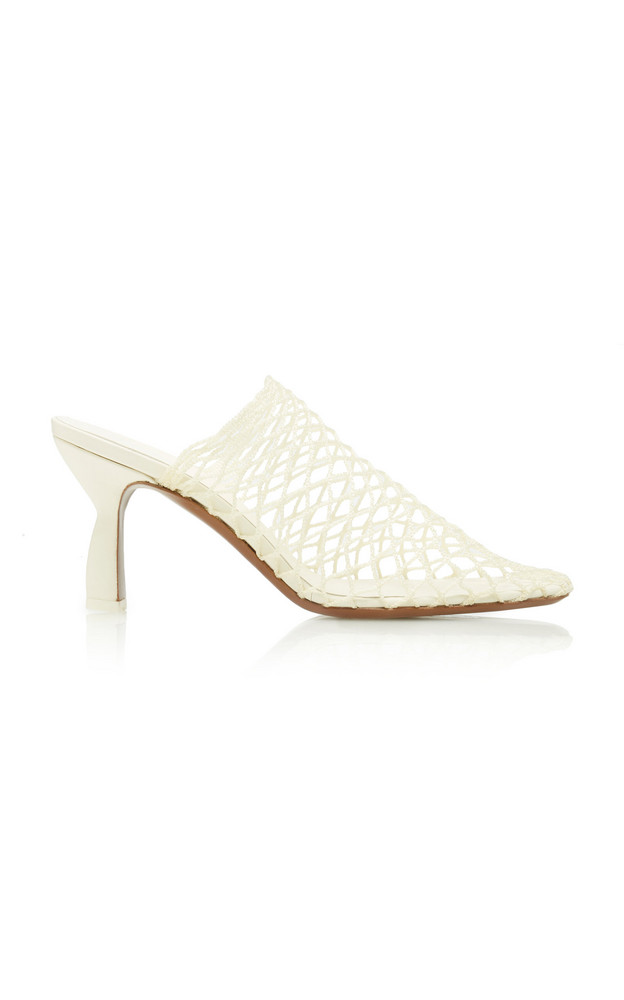 Neous Bophy Mesh Leather Mules in white