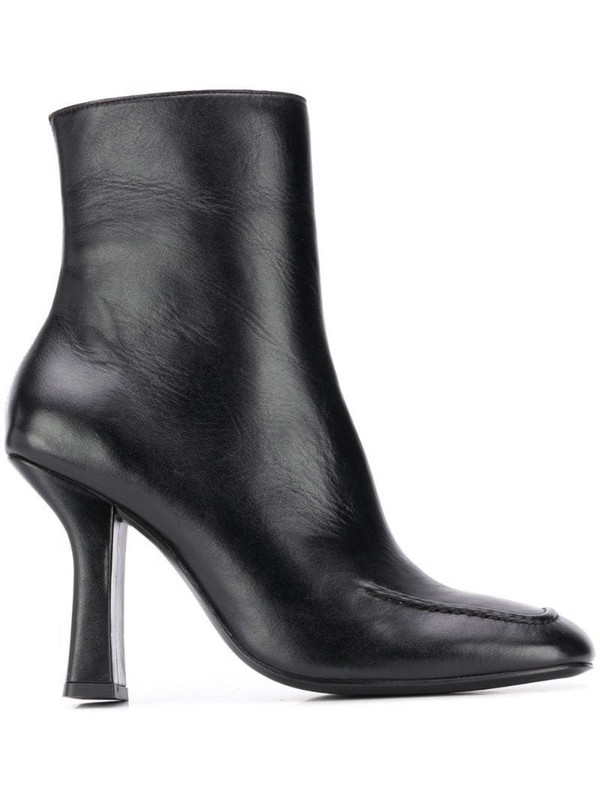 Dorateymur Retox block heel ankle boots in black