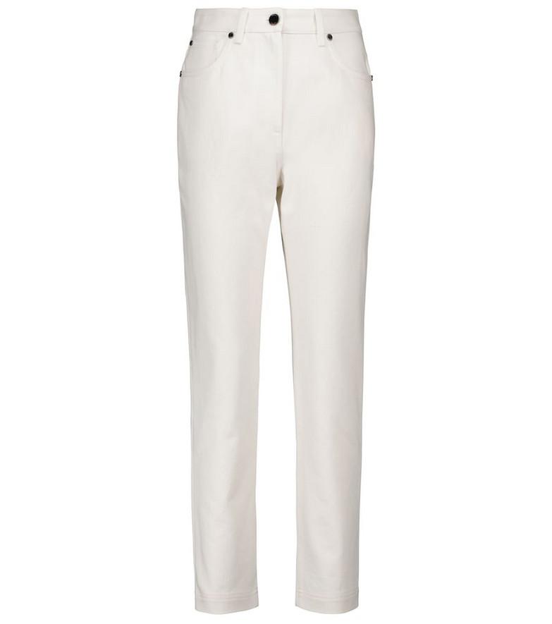 Fendi High-rise slim jeans in white