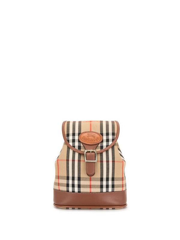Burberry Pre-Owned small Nova Check backpack in brown
