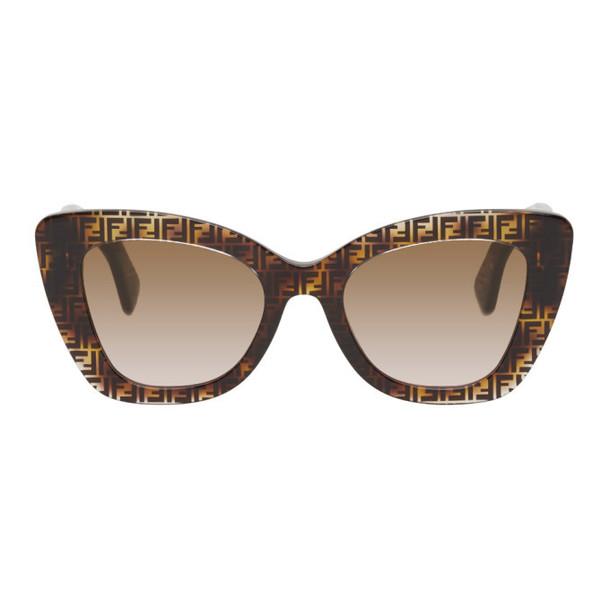 Fendi Tortoiseshell F Is Fendi Cat-Eye Sunglasses