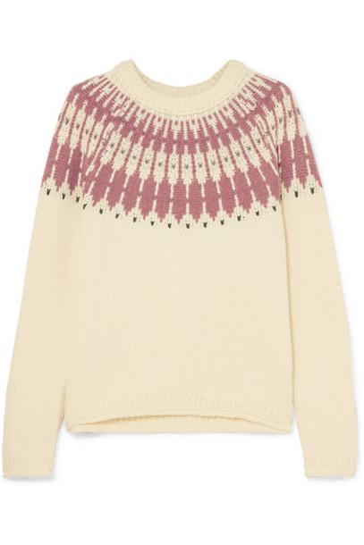 Madewell - Fair Isle Cotton-blend Sweater - Cream