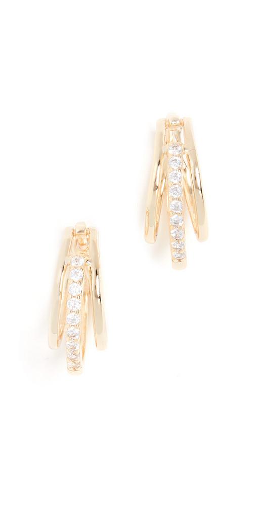 SHASHI Lola Hoop Earrings in gold