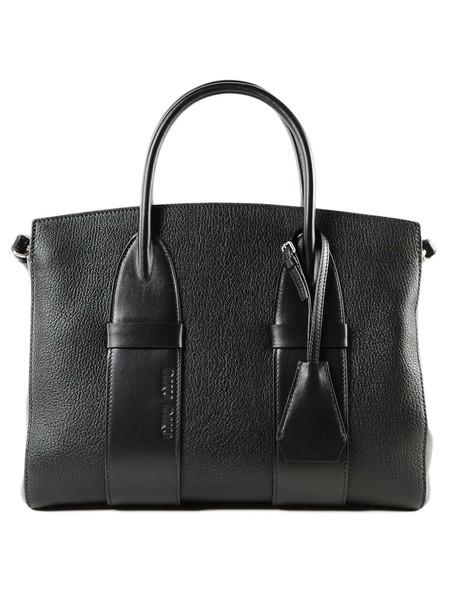 Miu Miu Madras+soft Calf Handbag in nero