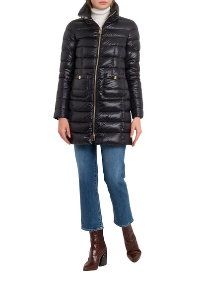 Herno Maria Long Down-jacket in nero