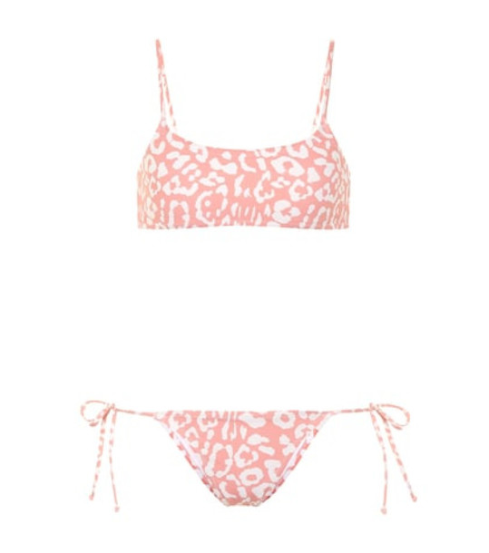 Reina Olga Exclusive to Mytheresa – Stella leopard-print bikini set in pink