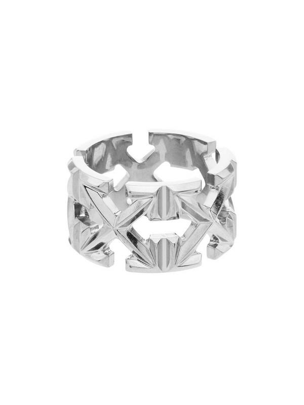 Off-White arrow silver-tone ring