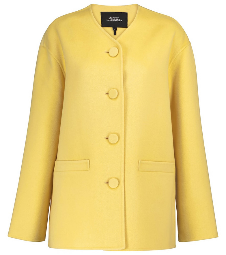 Marc Jacobs Wool, cashmere and silk jacket in yellow
