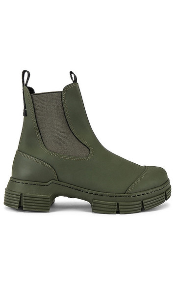 Ganni City Boot in Olive in green