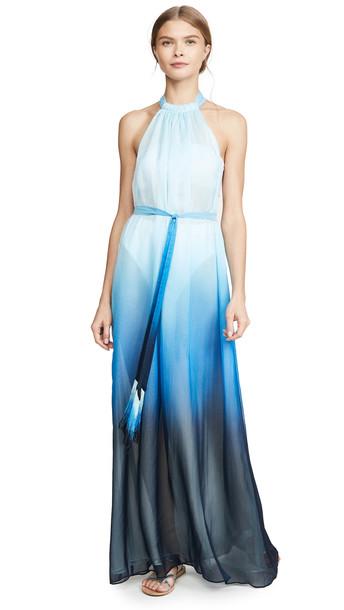 Jonathan Simkhai Ombre Halter Maxi Dress in midnight