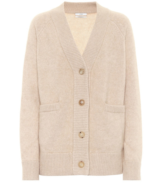 Co Cashmere cardigan in beige