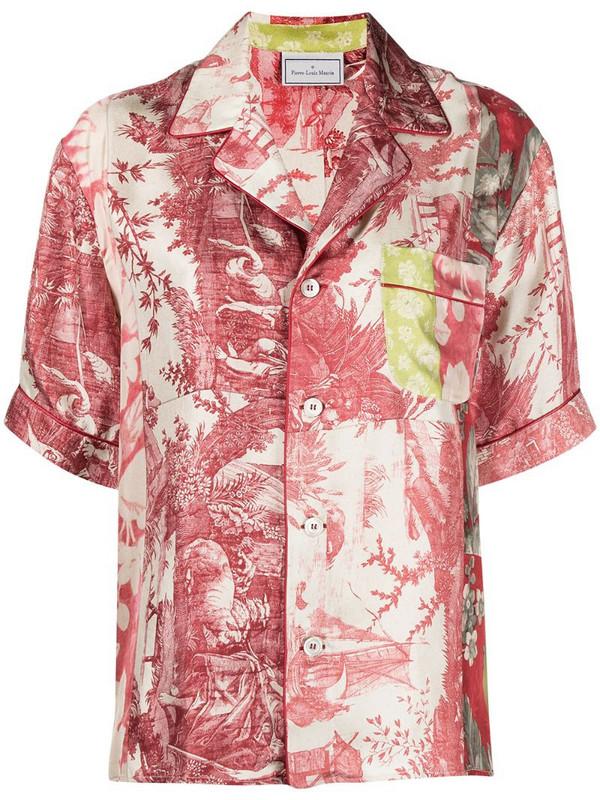 Pierre-Louis Mascia floral print pyjama shirt in red