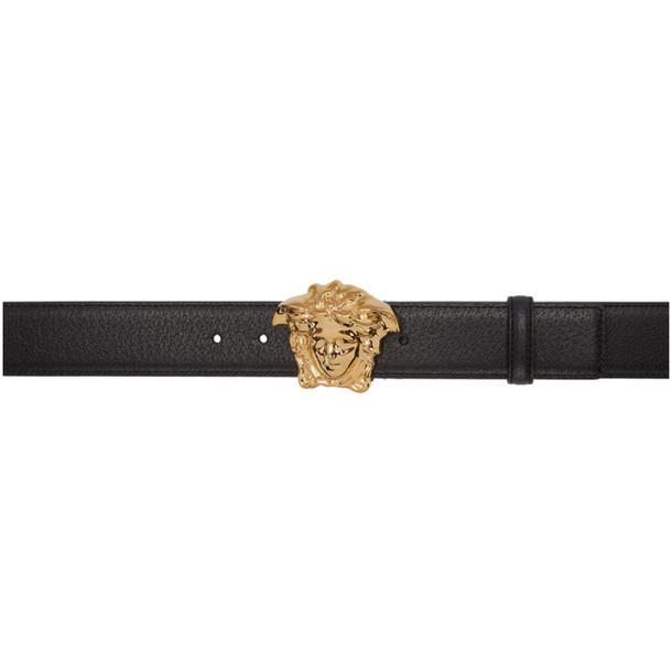 Versace Black & Gold Medusa Belt