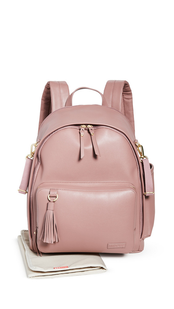Skip Hop Greenwich Simply Chic Diaper Backpack in rose