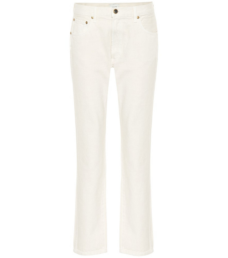 Khaite Kyle low-rise straight jeans in white