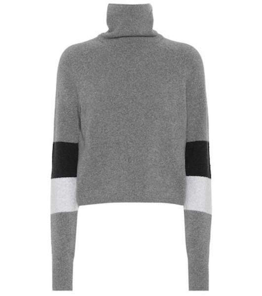 Lndr Piste cotton-blend turtleneck sweater in grey
