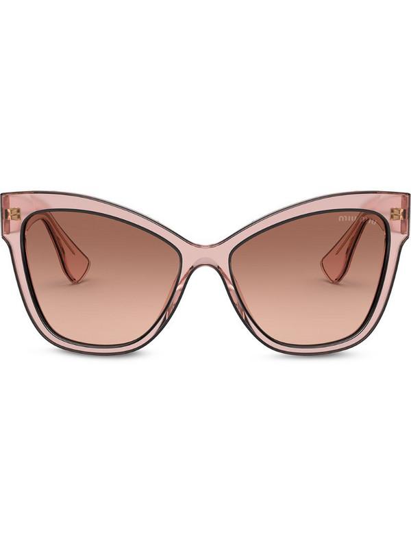 Miu Miu Eyewear La Mondaine cat-eye sunglasses in pink