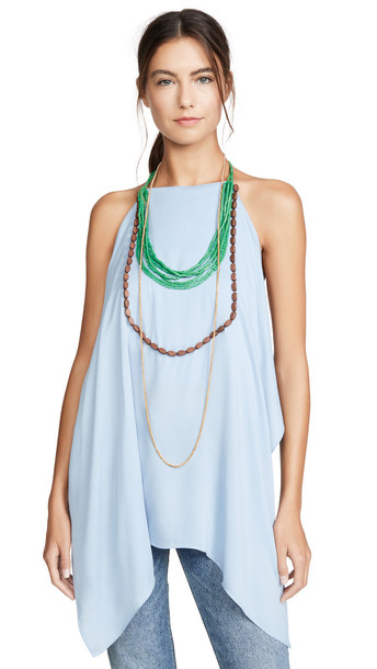 Jacquemus The Jewelry Top in blue