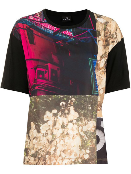 PS Paul Smith photographic-print modal t-shirt in black