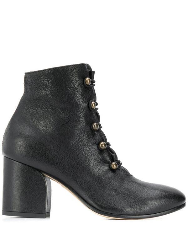 Officine Creative block heel boots in black