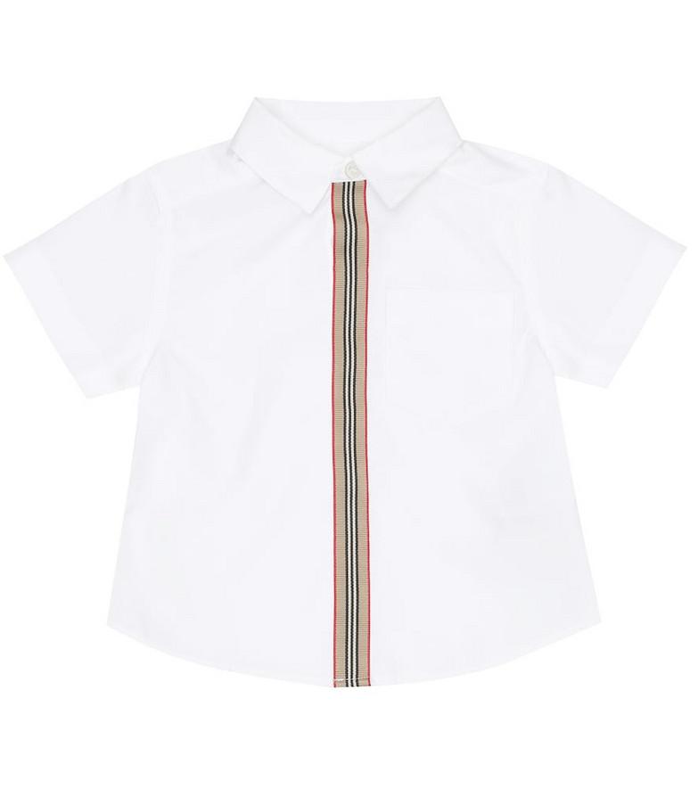 Burberry Kids Baby Icon Stripe stretch-cotton shirt in white
