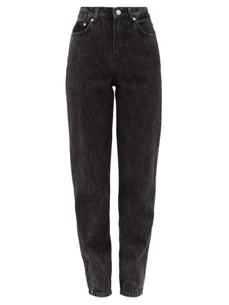 Ganni - High-rise Straight-leg Jeans - Womens - Black