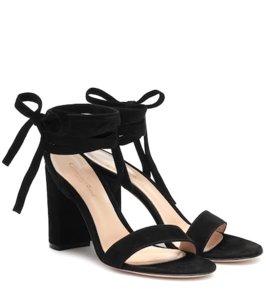 Gianvito Rossi Exclusive to Mytheresa – Gaia 85 suede sandals in black