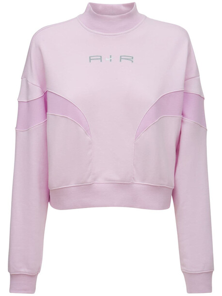 NIKE Mock Cotton Blend Sweatshirt in pink