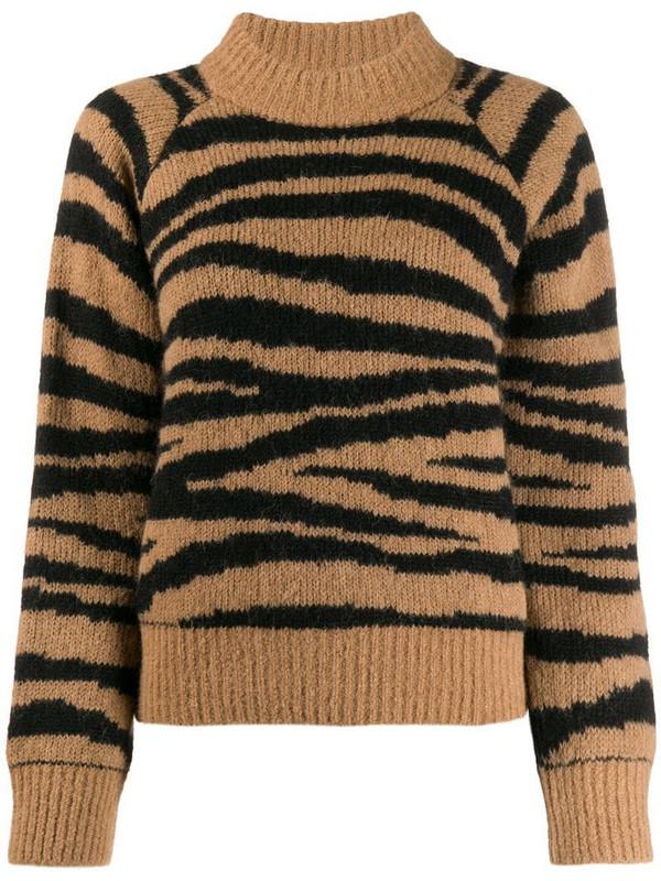 A.P.C. zebra print jumper in neutrals