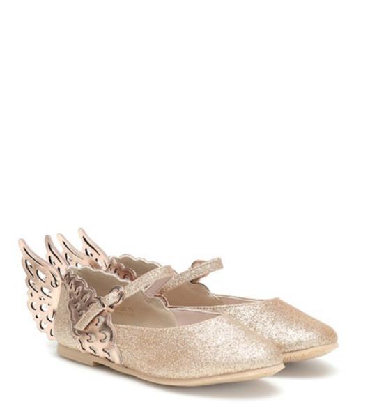 Sophia Webster Mini Evangeline ballet flats in gold