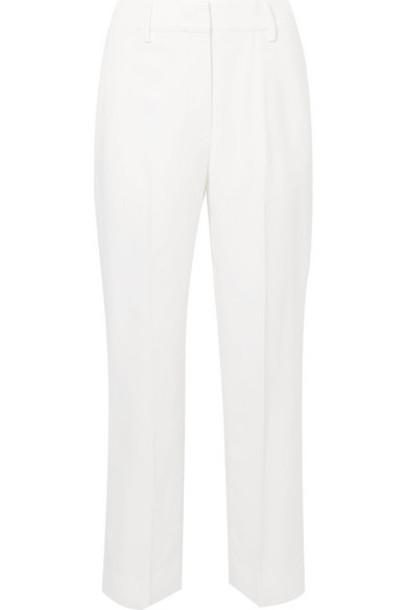 Khaite - Catherine Cropped Twill Straight-leg Pants - Ivory