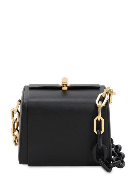 THE VOLON Po Cube Leather Bag in black