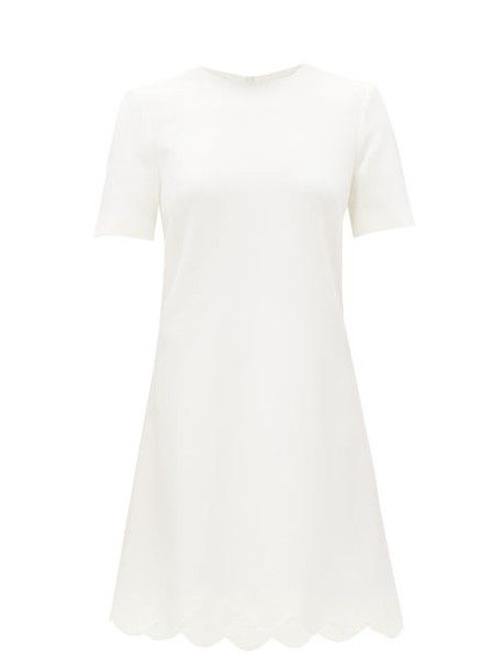 Goat - Jolie Scalloped-hem Wool-crepe Dress - Womens - White