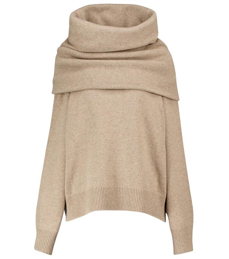 Frankie Shop Wool-blend sweater in beige