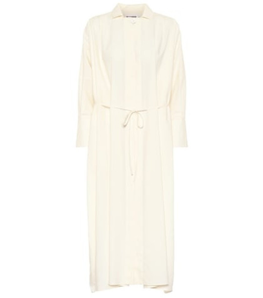 Jil Sander Cotton midi dress in beige / beige