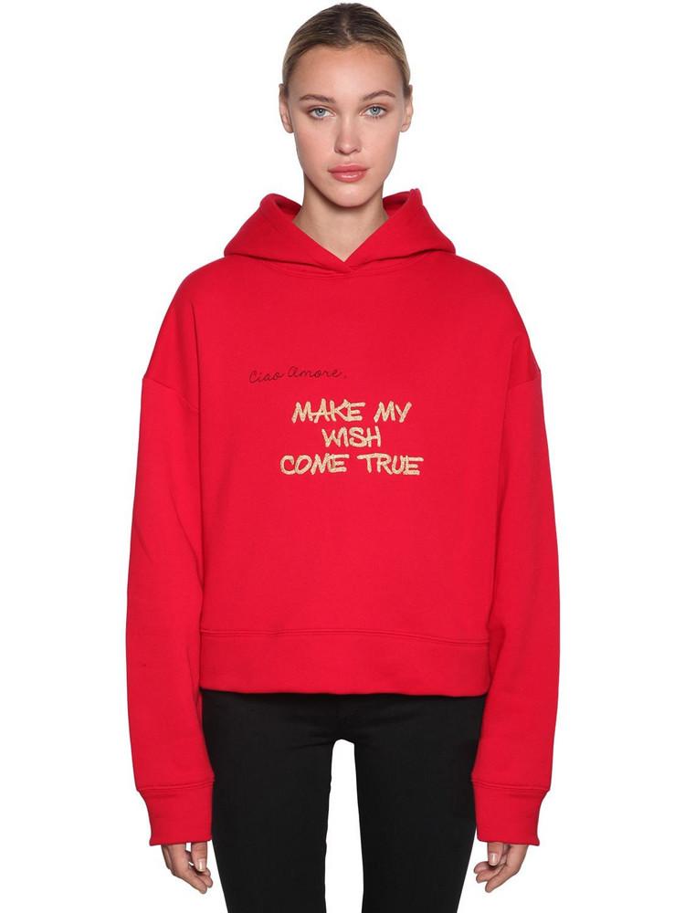 GIADA BENINCASA Cotton Jersey Sweatshirt Hoodie in red
