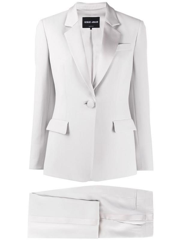 Giorgio Armani trousers suit set in grey