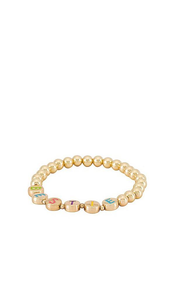 BaubleBar BFFL Pisa Bracelet in Metallic Gold in multi