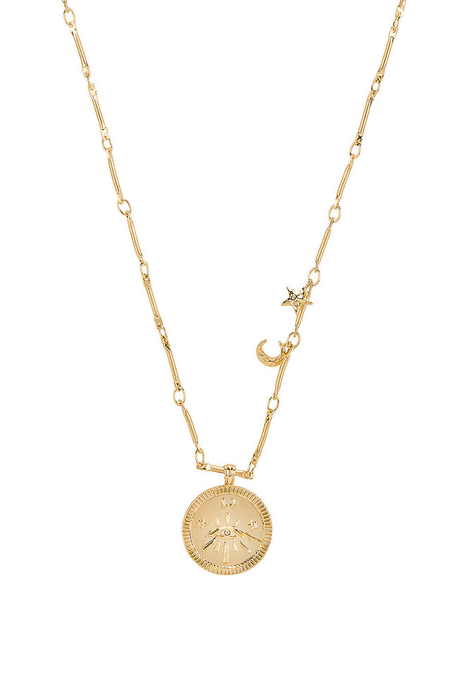 Wanderlust + Co Aleya Necklace in gold / metallic